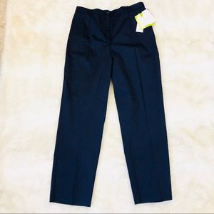 Koret women's navy pleated slacks dress pants